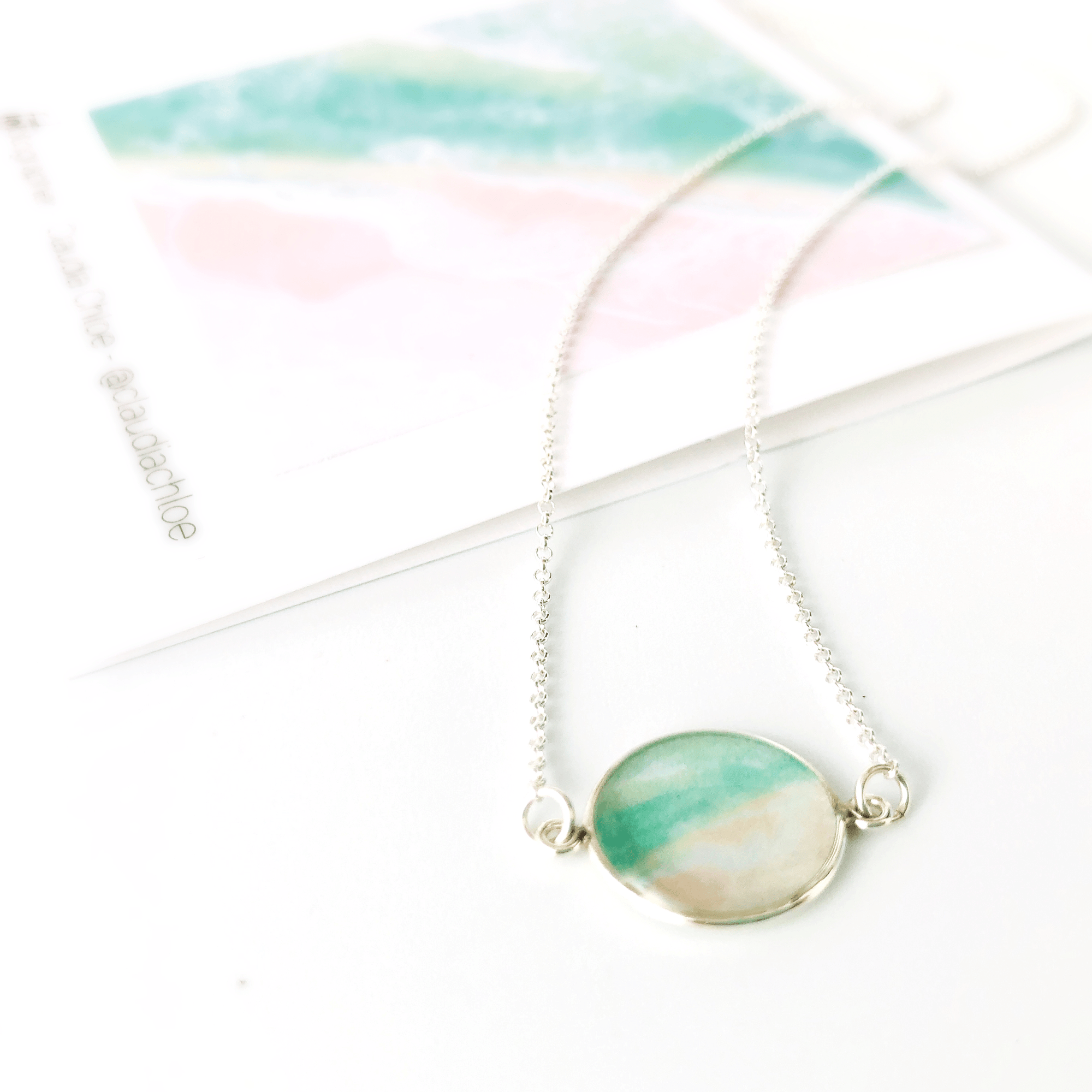 Good Things Come in Waves - Jersey Shore Mini-circle Necklace