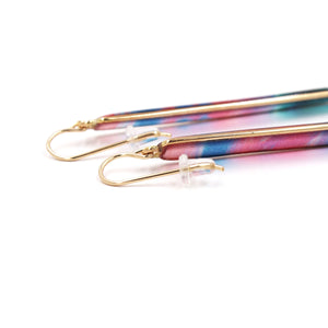Sunset Hues by Lauren Roth Long Bar Earrings