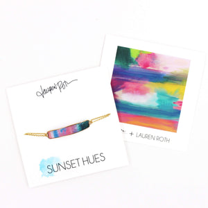 Sunset Hues by Lauren Roth Bar Bracelet