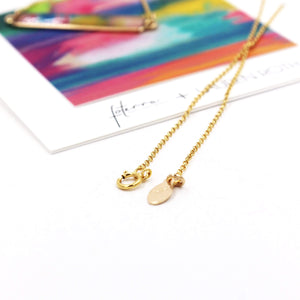 Sunset Hues by Lauren Roth Bar Necklace