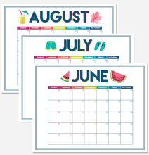 Load image into Gallery viewer, Summer Schedule Planner