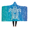 Ocean Turtle Maori Hooded Blanket