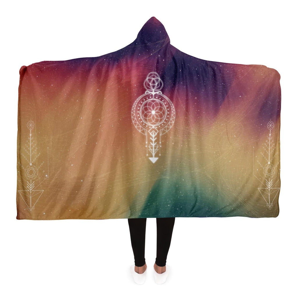 Colourful geo hooded