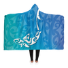 Ocean Shark Maori Hooded Blanket