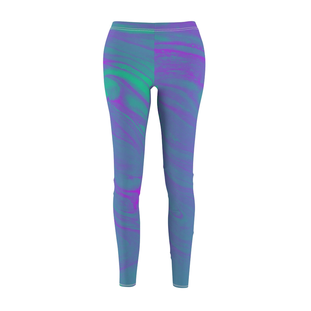 Green & Purple Swirl Leggings