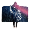 Night Wolf Tribal Hooded Blanket
