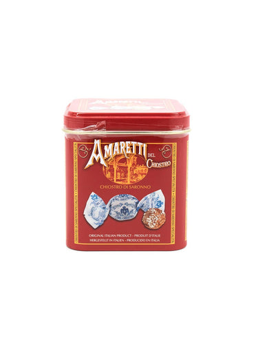 Amaretti Del Chiostro Crunchy (Cube Tin) 1.76 OZ. - [Premium Italian Food at Home ]