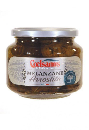 Grilled Eggplants in oil  by Coelsanus 12.5oz - [Premium Italian Food at Home ]