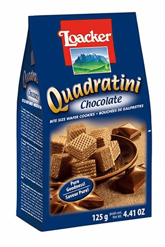 Loacker Quadratini Chocolate Cube Wafers by Loacker 8.8 oz - [Premium Italian Food at Home ]