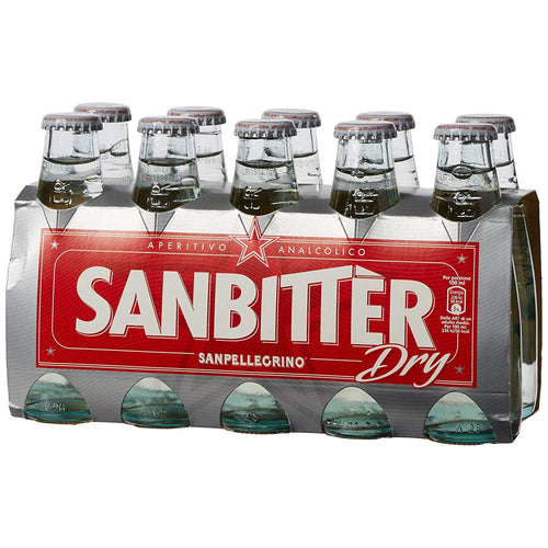 Sanbitter non-alcoholic white dry aperitif by San Pellegrino - 10 x 100 ml - [Premium Italian Food at Home ]