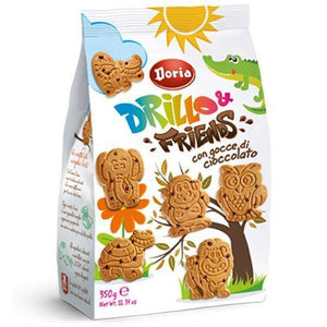 Drillo and Friends with Chocolate Chips - by Doria 12.3 oz - [Premium Italian Food at Home ]