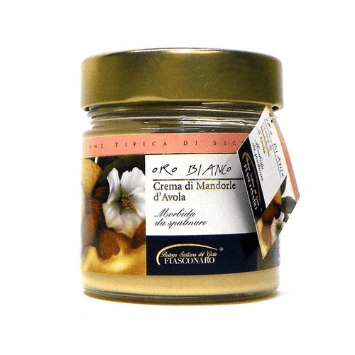 Oro Bianco Crema di Mandorle d'Avola (Almond Cream), by Fiasconaro  6.3 oz - [Premium Italian Food at Home ]