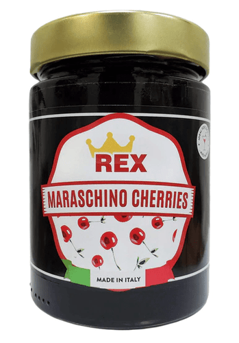 Maraschino Cherries, by Rex 14 oz - [Premium Italian Food at Home ]