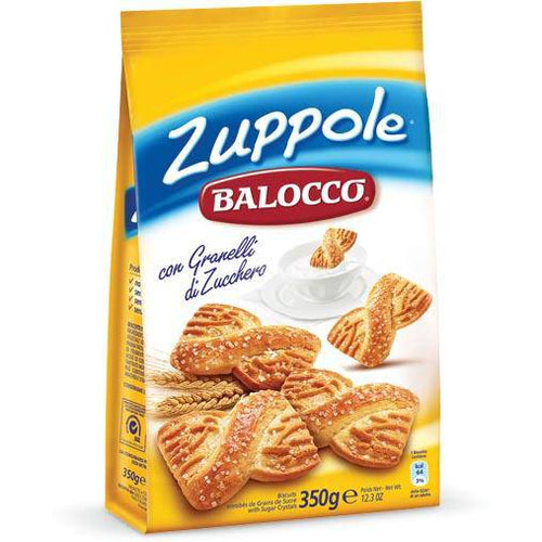 Zuppole Biscotti Frollini, by Balocco 12.3oz - [Premium Italian Food at Home ]