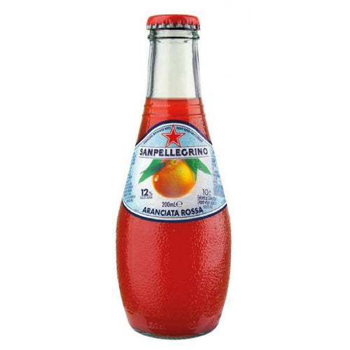 San Pellegrino Aranciata Rossa Glass organic 6.8oz pack of 4 - [Premium Italian Food at Home ]