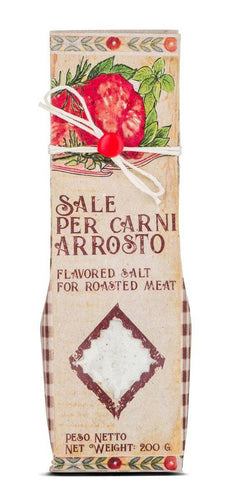 Casarecci Flavored Salt   for meats and roasts by Casaracci di Calabria 7 oz - [Premium Italian Food at Home ]