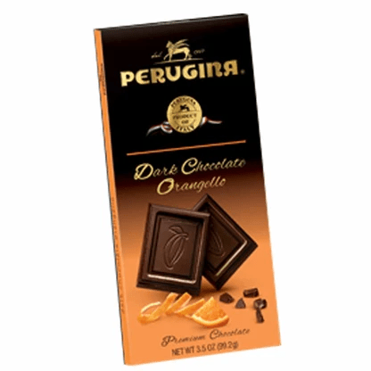 Dark Chocolate Orangello Bar, by Perugina 3.5 oz - [Premium Italian Food at Home ]