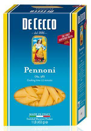 Pennoni Pasta no. 12 from Italy by De Cecco - 1 lb - [Premium Italian Food at Home ]