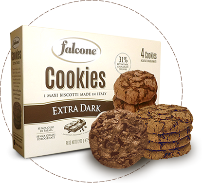 Falcone Cookies Extra Dark 4/50gr