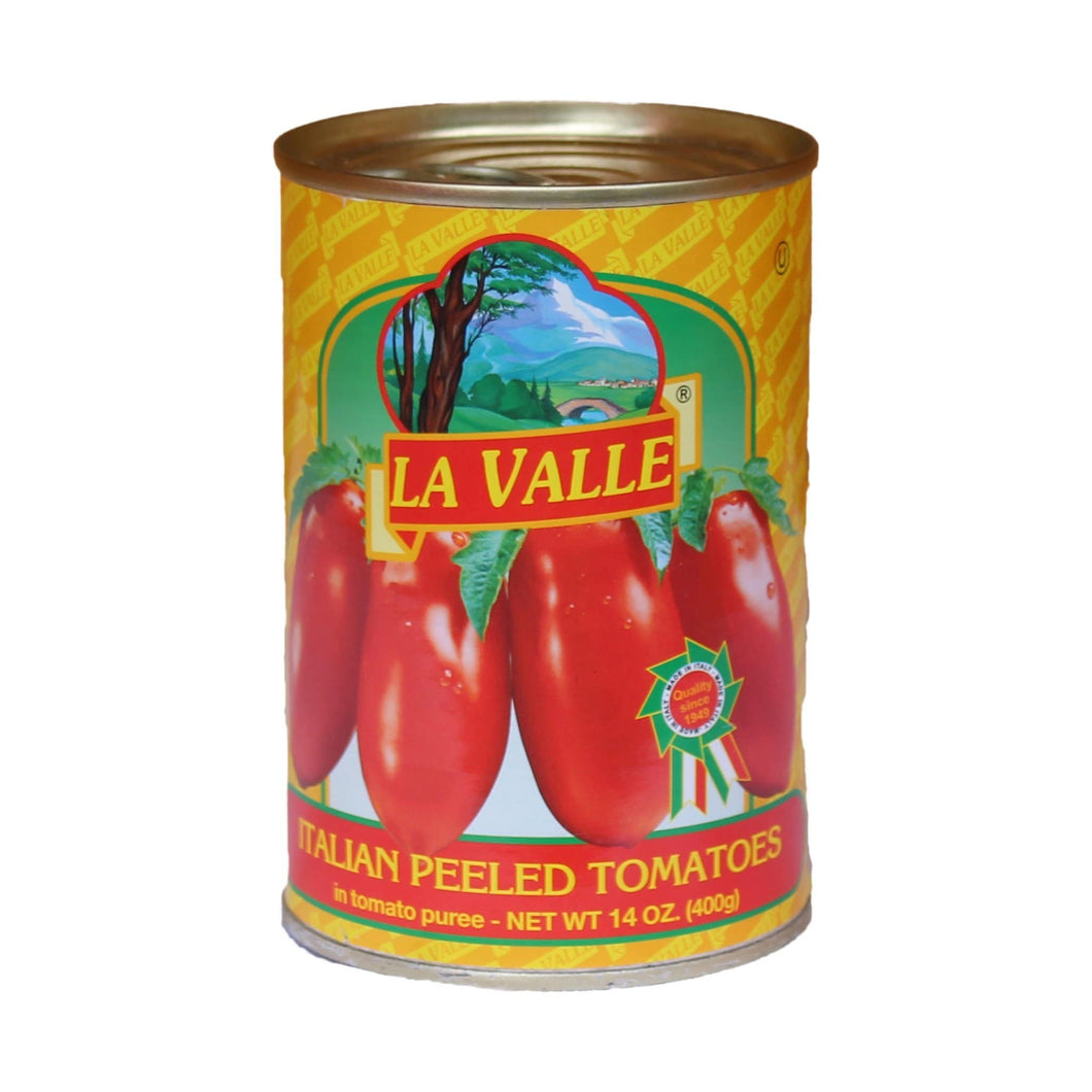 Italian Peeled Tomatoes - by La Valle 400 grams - [Premium Italian Food at Home ]