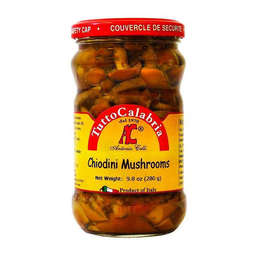 Chiodini Mushrooms in Oil, by Tutto Calabria 9.8 oz (280 g) - [Premium Italian Food at Home ]