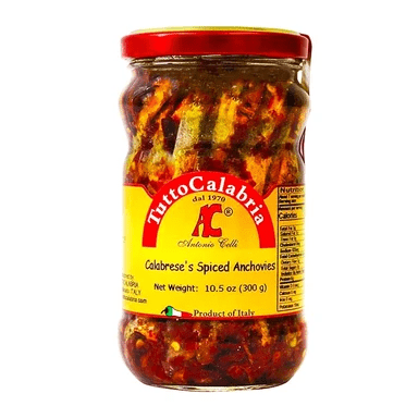 Alici Alla Calabrese Spicy, by Tutto Calabria 10.2oz - [Premium Italian Food at Home ]