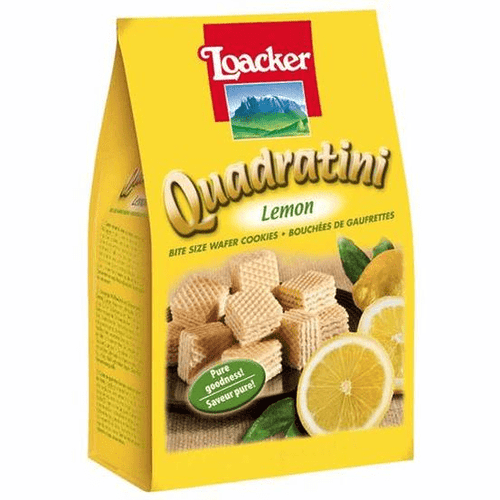 Loacker Quadratini Lemon Cube Wafers by Loacker 8.8 oz - [Premium Italian Food at Home ]