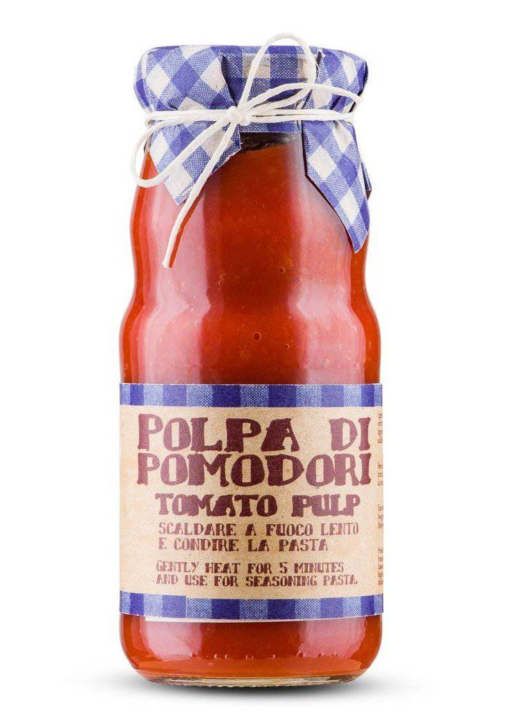Ready Pulp of Fresh Tomatoes By Casarecci Di Calabria 360gr - [Premium Italian Food at Home ]