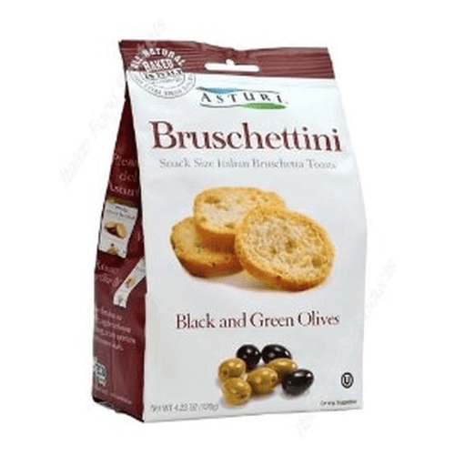 Bruschettini Black and Green Olives By Astur 4.2 oz - [Premium Italian Food at Home ]