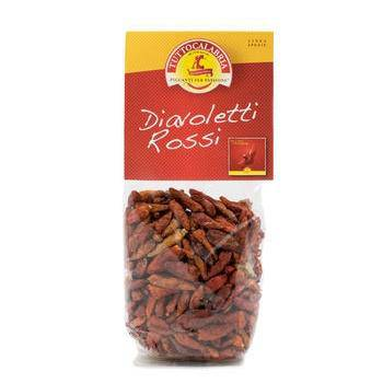 Diavoletti Rossi, Mini Red Hot Peppers Dry - by Tutto Calabria  50gr - [Premium Italian Food at Home ]