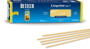 Linguine Pasta from Italy by De Cecco no. 7 - 1 lb - [Premium Italian Food at Home ]