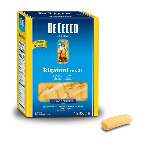 Rigatoni Pasta from Italy by De Cecco no. 24 - 1 lb - [Premium Italian Food at Home ]