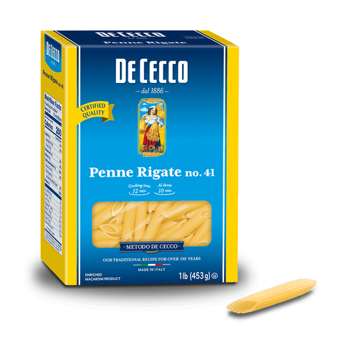 Penne Rigate Pasta from Italy by De Cecco no. 91 - 1 lb - [Premium Italian Food at Home ]