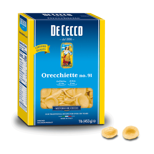 Orecchiette Pasta from Italy by De Cecco no. 91 - 1 lb - [Premium Italian Food at Home ]