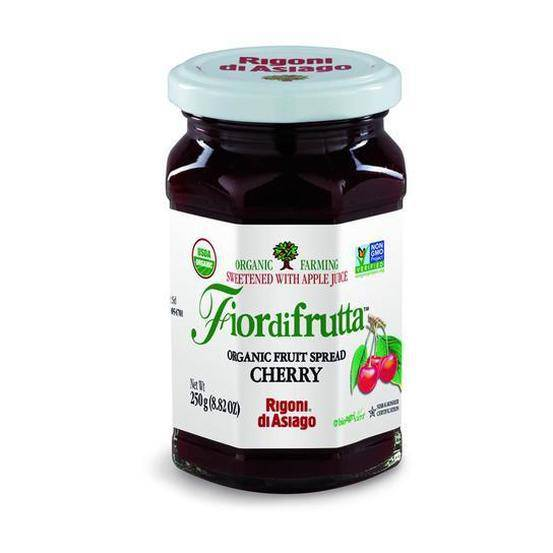 Organic Cherry Fruit Spread Rigoni di Asiago 8.8 oz - [Premium Italian Food at Home ]