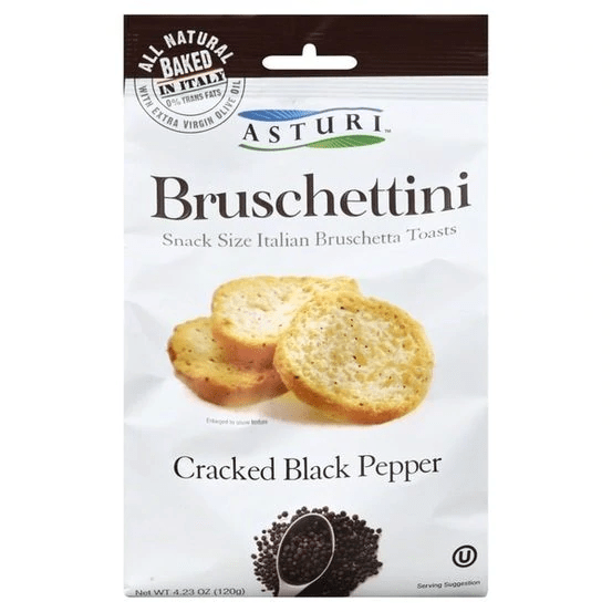 Bruschettini Cracked Black Pepper By Astur 4.2 oz - [Premium Italian Food at Home ]