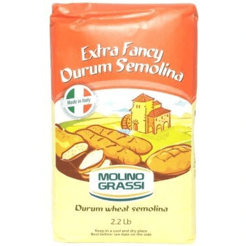 Extra Fancy Durum Semolina Flour - Molino Grassi 2.2 lbs - [Premium Italian Food at Home ]