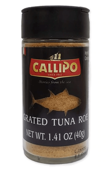 Grated Tuna Roe Bottarga di Tonno, by Callipo 1.4 oz - [Premium Italian Food at Home ]