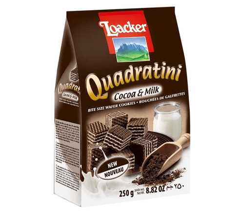 Loacker Quadratini Cocoa & Milk by Loacker 8.8 oz - [Premium Italian Food at Home ]