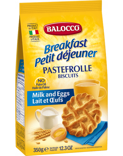 Pastefrolle Biscotti Frollini, by Balocco 12.3 oz - [Premium Italian Food at Home ]