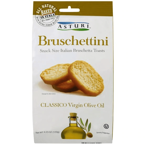 Bruschettini Extra Virgin Olive Oil & sea Salt By Astur 4.2 oz - [Premium Italian Food at Home ]