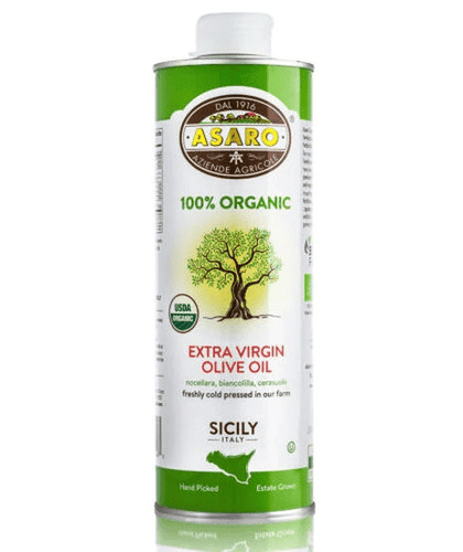 Organic Extra Virgin Olive Oil Tin, by Asaro Farm16.9 oz - [Premium Italian Food at Home ]