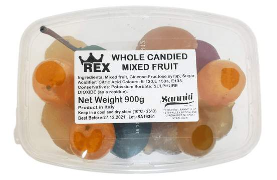Whole Candied Mixed Fruit ,by Rex  2 lbs - [Premium Italian Food at Home ]