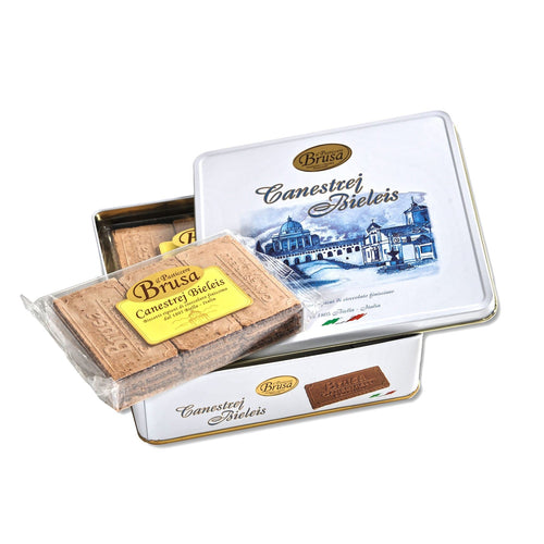 Canestrej Bieleis Biscuits Tin Box by Brusa 9.52 oz - [Premium Italian Food at Home ]