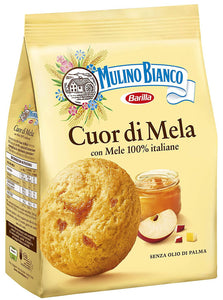 Cuor di Mela Apple Cookies by Mulino Bianco - 8.8 oz. - [Premium Italian Food at Home ]