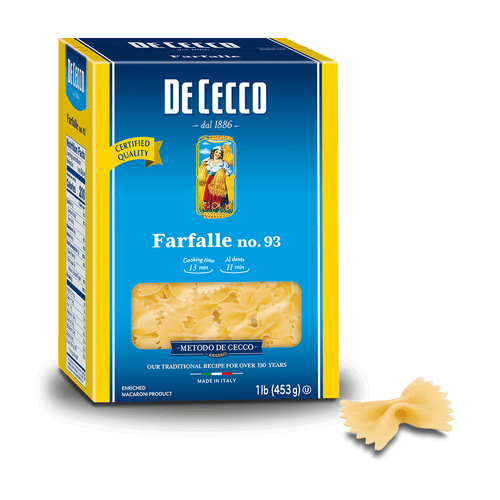 Farfalle Pasta from Italy by De Cecco no. 93 - 1 lb - [Premium Italian Food at Home ]