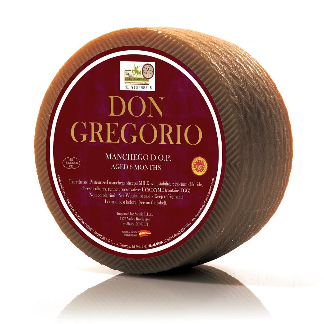 Don Gregorio Spanish Manchego DOP 6 Months Aged, 6 lbs