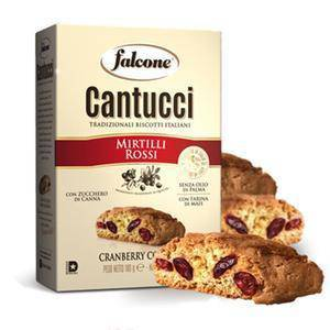 Cantucci Cranberry Cookies by Falcone - 6.35 oz - [Premium Italian Food at Home ]