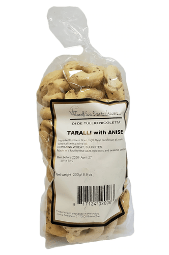 Taralli with Anise by Beato Giacomo, 250 grams - [Premium Italian Food at Home ]