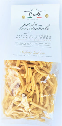 Artisanal Fusilli Caserecci Pasta 100% Durum Wheat Pasta by Pastificio Conte 500gr - [Premium Italian Food at Home ]